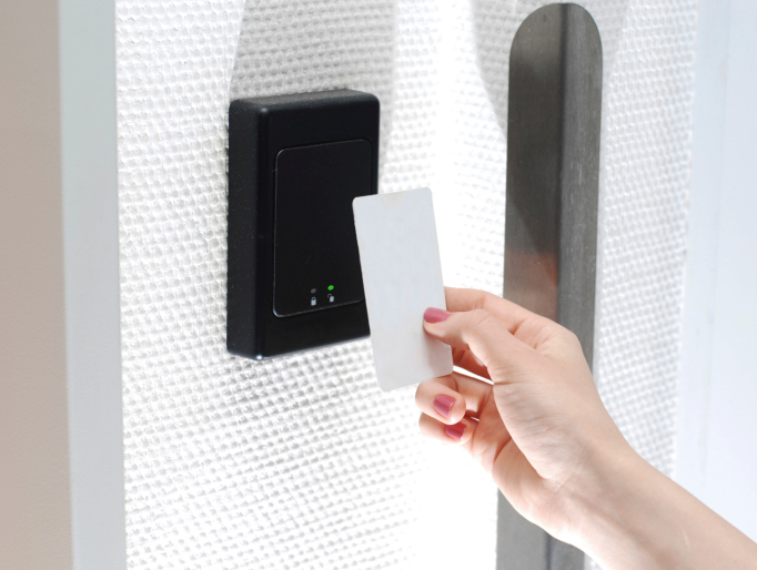 Access Control System build with proximity card reader, bluetooth technologies