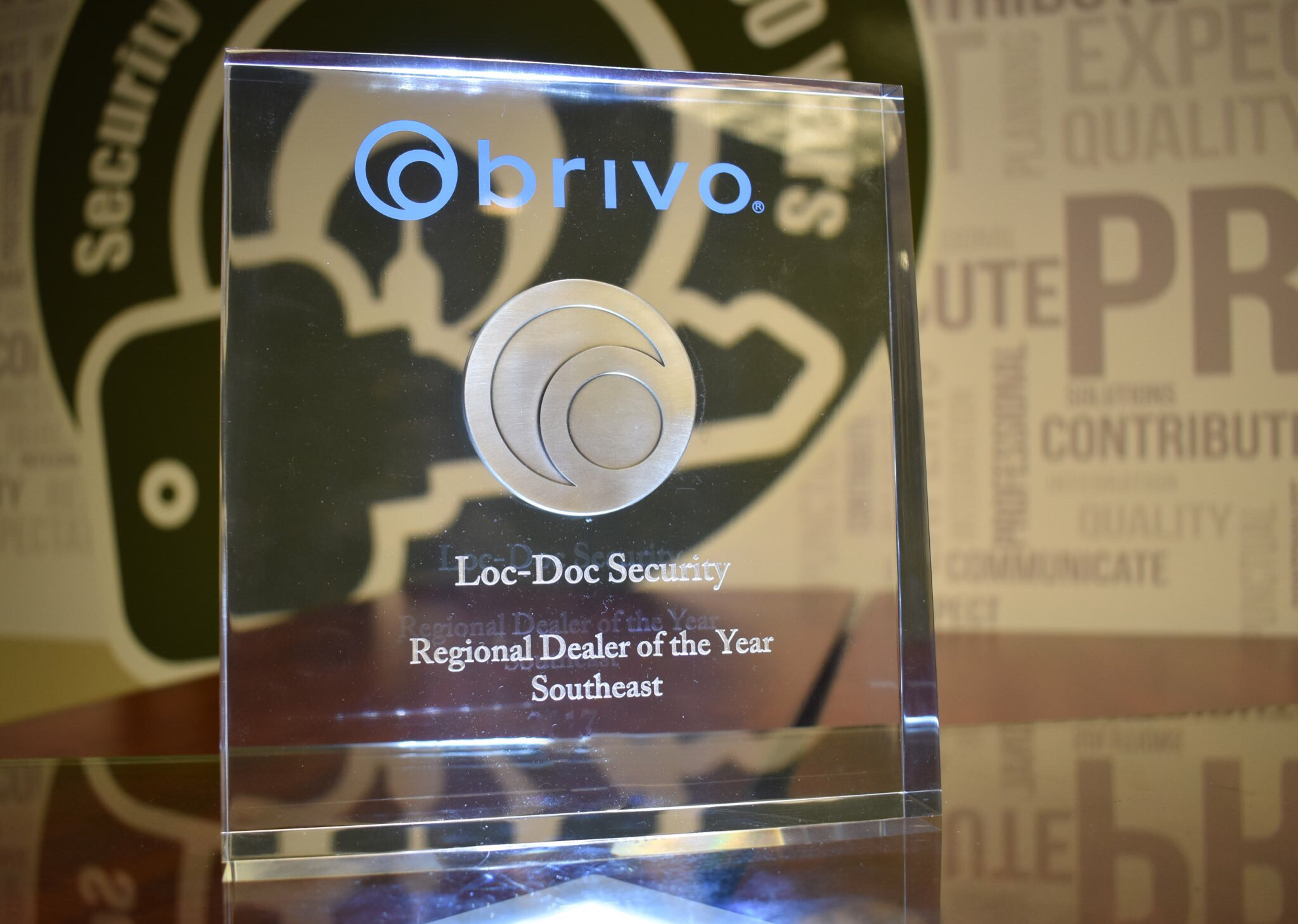 Loc-Doc Security is the regional dealer of the year in the southeast for brivo parts