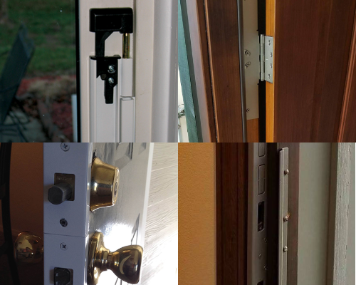 Protect against kick ins using door armor to reinforce your door frame