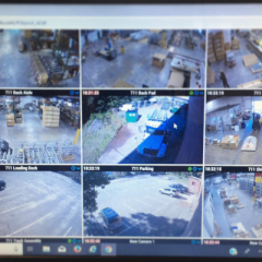 Easy viewing of commercial security camera system